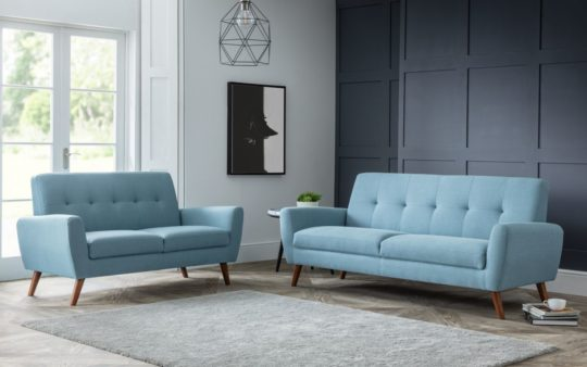 Monza Blue Pay Weekly Sofas